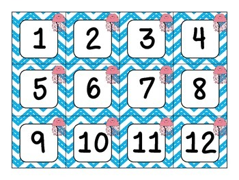 Under the Sea Ocean Theme Calendar Number Cards