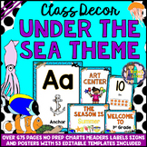 Under the Sea Ocean Theme Classroom Decor Mega Bundle EDITABLE BACK TO SCHOOL