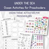 Under the Sea Ocean Themed Activities for Preschoolers and
