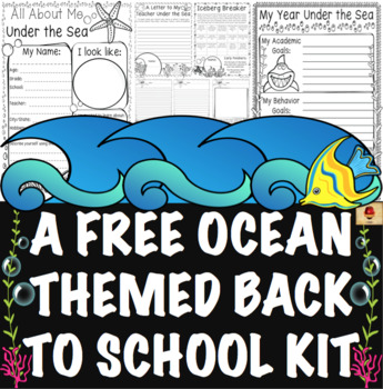Under the Sea {Ocean} Themed All About Me and Back to School {A Free Set}