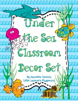 Under the Sea Ocean Themed Classrom Decor Set