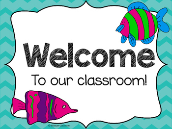 Under the Sea Ocean Welcome Signs