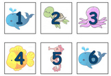 Under the Sea Ocean themed Calendar inserts (Days and Months)