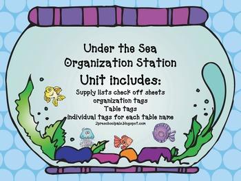 Under the Sea Organization Station