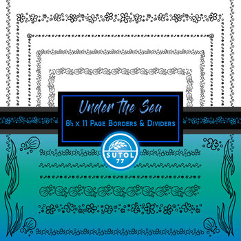 Under the Sea ~ Page Borders & Dividers