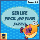 Under the Sea Pencil and Paper Puzzles