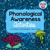 PHONOLOGICAL AWARENESS ACTIVTIES   RHYMING WORKSHEETS   WORKING ON SOUNDS