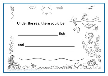 Under the Sea Picture-Poem Frame for very young writers