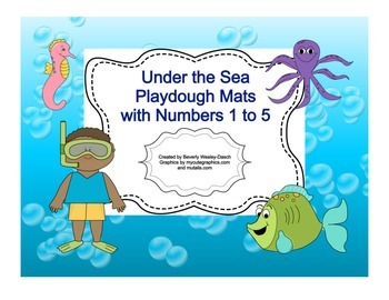 Under the Sea Playdough Mats with Numbers 1 to 5