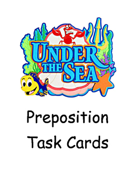 Under the Sea Preposition Task Cards