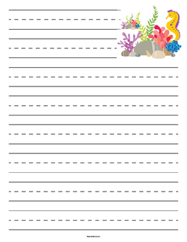 Under the Sea Primary Lined Paper