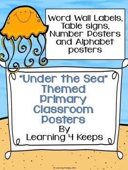 Under the Sea Primary Poster Set