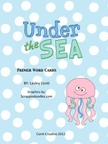 Under the Sea Primer Word Cards
