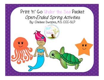 Under the Sea Print 'n' Go Packet