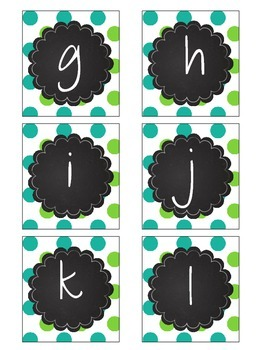 Sea Creatures Printable Boggle Polka Dot Chevron Teal Green Purple