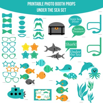 Under the Sea Printable Photo Booth Prop Set