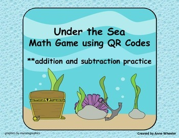 Under the Sea QR Code Addition and Subtraction Math Game u