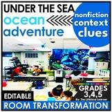 Under the Sea Reading Classroom Transformation | Context Clues