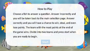 Under the Sea Reading Smart Board Game: Grade 4: Level 4