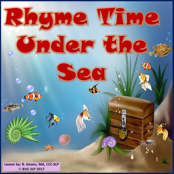 Rhyme Time Under the Sea - Teletherapy NO PREP NO PRINT
