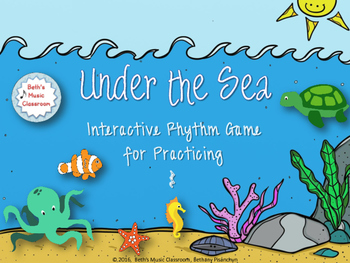 Under the Sea Rhythm Game - Ta rest (Kodaly)