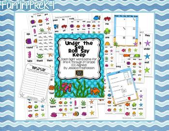 Under the Sea Roll Say Keep Bundle (Common Core Aligned)