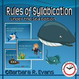 SYLLABLE RULES Undersea Theme Syllable Posters Syllable Activities Phonics