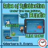SYLLABLES BUNDLE Undersea Theme Rules of Syllabication Posters PowerPoint