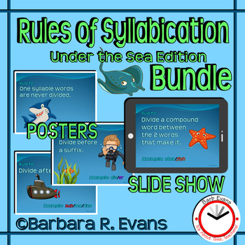 Under the Sea Rules of Syllabication Bundle