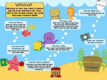 Under the Sea Scavenger Hunt - Meet the Teacher