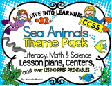 Ocean Animals, sea Life-Literacy, Science,Math-Lesson plan