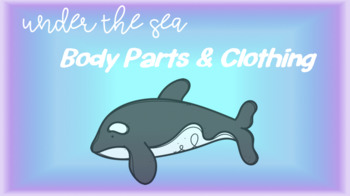 Under the Sea Sensory Stakes: Body Parts and Clothing