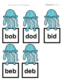 Under the Sea Sensory Stakes: CVC: B/D Confusion