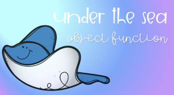 Under the Sea Sensory Stakes: Object Function