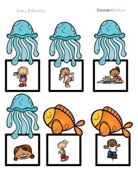 Under the Sea Sensory Stakes: Verbs