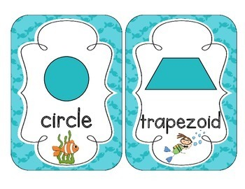 Under the Sea Shape Cards