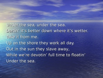 Under the Sea Sing Along with Powerpoint