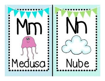 Under the Sea Spanish Alphabet Cards