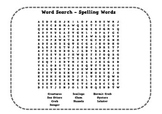 Under the Sea Spelling Crossword Puzzle and Word Search