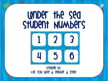 Under the Sea Student Numbers