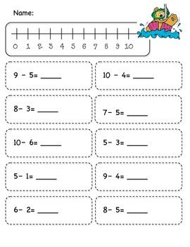 Under the Sea Subtraction