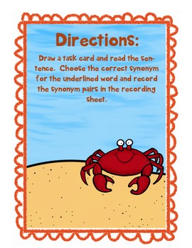 Under the Sea Synonyms