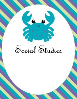 Under the Sea Teacher Binder Covers or Dividers with Starfish Seahorse Octopus