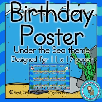 Under the Sea Theme Birthday Poster