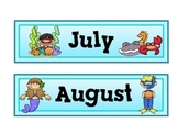 Under the Sea Theme Calendar Months