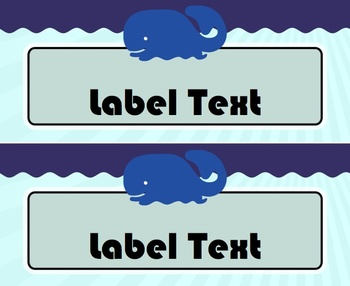 Under the Sea Theme Labels (Elementary or Middle)