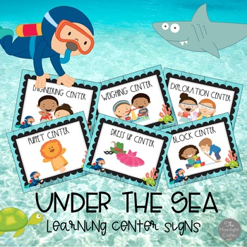 Under the Sea Theme Learning Center Signs