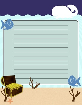 Under the Sea Theme Paper (Elementary or Middle)