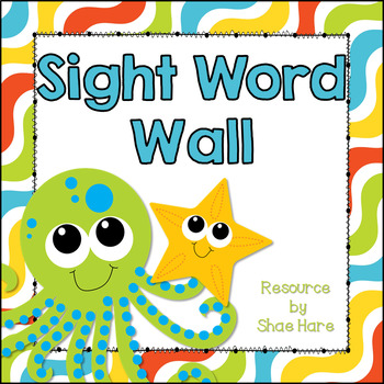 Under the Sea Theme [Word Wall and Headers] Fry & Dolch Sight Words Flash Cards