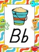 Under the Sea Themed Alphabet Posters {crab octopus starfi